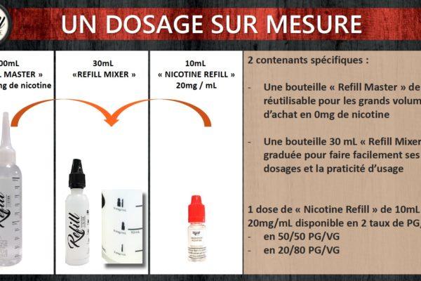 Le dosage en nicotine dans l'E-liquide